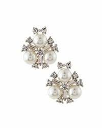 Emily And Ashley Simulated Pearl Crystal Statement Stud Earrings White