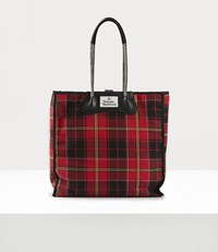 Vivienne Westwood Elena Folded Shopper Red Black Red Black