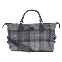 Barbour Shadow Explorer Check Holdall Black Grey
