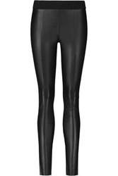 Mcq By Alexander Mcqueen Paneled Stretch Ponte And Faux Leather Skinny Pants Black