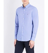 Tommy Hilfiger Dobby Slim Fit Cotton Shirt Surf The Web