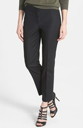 Petite Women's Nic Zoe 'The Perfect' Ankle Pants Black Onyx