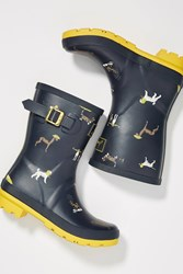 Joules Molly Short Rain Boots Blue