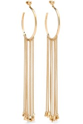 Chloe Gold Tone Earrings One Size