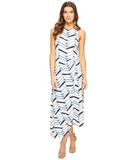 Tart Jones Dress Watercolor Chevron Women's Dress White