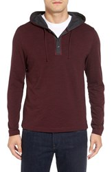 Robert Barakett Men's Douglas Hooded Henley Port