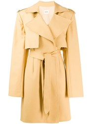 Khaite Belted Trench Coat Neutrals