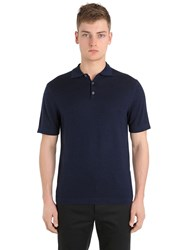 Falke Luxury Virgin Wool And Cashmere Polo Shirt