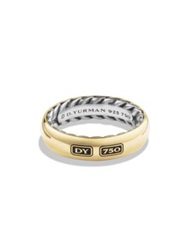 David Yurman Exotic Stone Streamline Sterling Silver And 18K Yellow Gold Ring Gold Silver