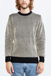 Obey Striped Sweater Brown