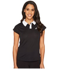 Asics Court Classic Polo Performance Black Women's Short Sleeve Pullover