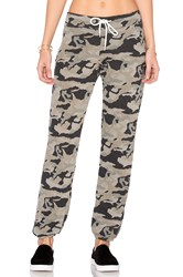 Monrow Bone Blue Camo Vintage Sweatpant Green