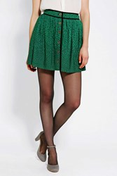 Cooperative Library Button Front Mini Skirt Green Multi