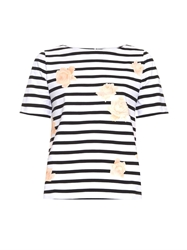 Band Of Outsiders Striped And Rose Print Jersey Top