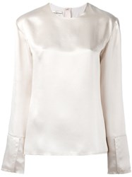 Golden Goose Deluxe Brand Long Sleeve Blouse Nude Neutrals