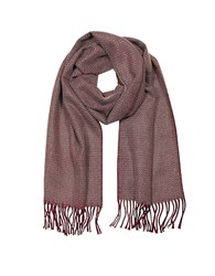 Mila Schon Pure Cashmere Long Scarf W Fringe Burgundy