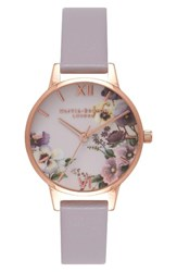Olivia Burton Women's Begin To Blush Leather Strap Watch 30Mm