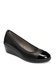 Aerosoles True Blue Slip On Cap Toe Pumps Black