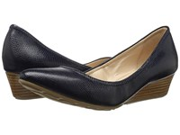 Cole Haan Tali Luxe Wedge 40 Blazer Blue Lizard Women's Slip On Dress Shoes Black