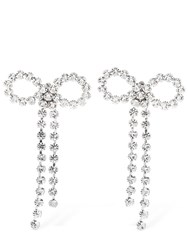 Ca And Lou Louise Bow Clip On Earrings Crystal