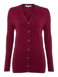 Dickins And Jones Longline French Knot Cardigan Purple
