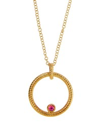 Roberto Coin 18K Round Synthetic Ruby Pendant Necklace