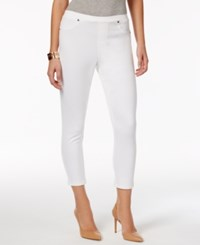 Style And Co Twill Capri Leggings Only At Macy's Bright White
