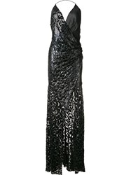 Alexandre Vauthier Lurex Leopard Evening Dress Black