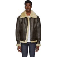 Schott Brown B 3 Shearling Jacket
