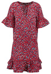 Morgan Rosy Summer Dress Marine Rouge Red