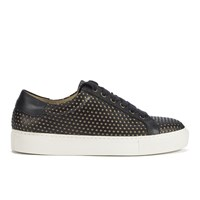 By Malene Birger Women's Rawani Perforated Leather Trainers Black Taupe