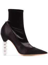 Sophia Webster Coco Crystal 100 Ankle Boots Black