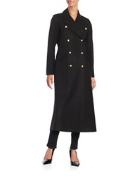 Cece Double Breasted Wool Blend Peacoat Black