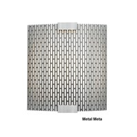 Lbl Lighting Omni With Cover Small Wall Light Pw559metsicf1he Metal Meta Silver Compact Fluorescent 120Volt