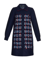 Mother Of Pearl Kipling Crystal Embellished Wool Coat
