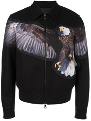 Neil Barrett Spread Eagle Bomber Jacket Black