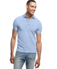 Tommy Hilfiger Big And Tall Solid Ivy Polo Covington Blue