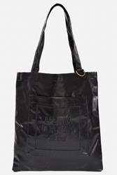 Opening Ceremony Laminated Linen Eco Tote Bag Black