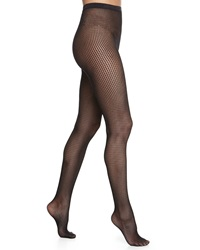 Wolford Marie Striped Net Tights Black