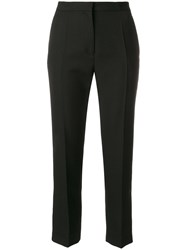 Haider Ackermann Cropped Tailored Trousers Cotton Virgin Wool Black