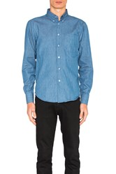 Naked And Famous Regular Button Down Blue