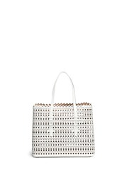 Azzedine Alaia 'Vienne' Perforated Leather Tote White