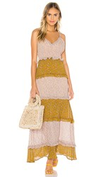 Show Me Your Mumu Emira Maxi Dress In Yellow. Itsy Ditsy Floral
