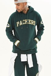 Forever 21 Nfl Packers Fleece Hoodie Green White