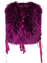 Dsquared2 Front Fastened Outerwear Accessory Pink And Purple