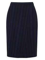 Eastex Self Stripe Pencil Skirt Navy