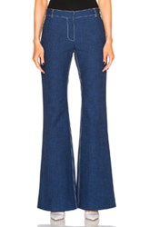 Wes Gordon Flare Pant In Blue