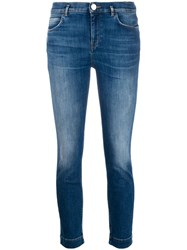 Pinko Belted Skinny Fit Jeans Blue