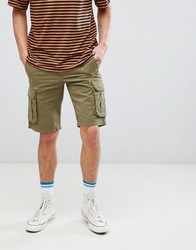 Pier One Cargo Short In Khaki Green