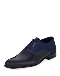 Jared Lang Patent Satin Oxford Dress Shoe Blue